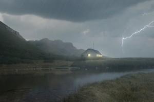 Zákres Kežmarské chaty do fotografie
