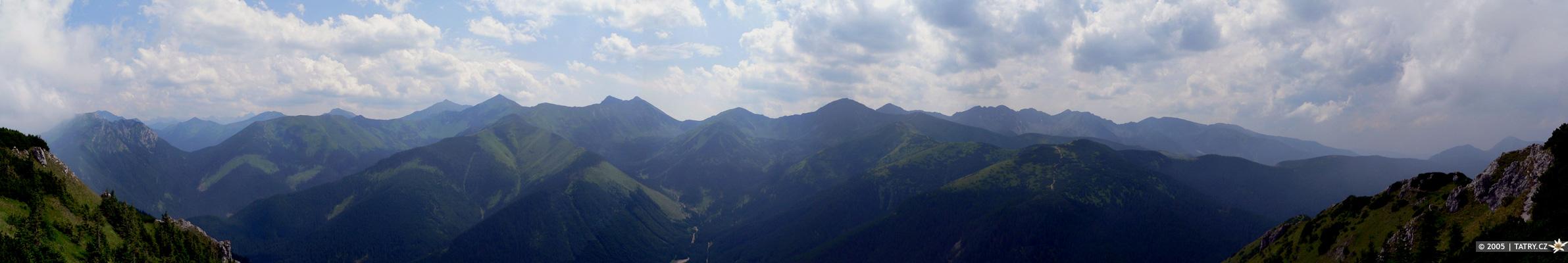 Západné Tatry z Bobrovce