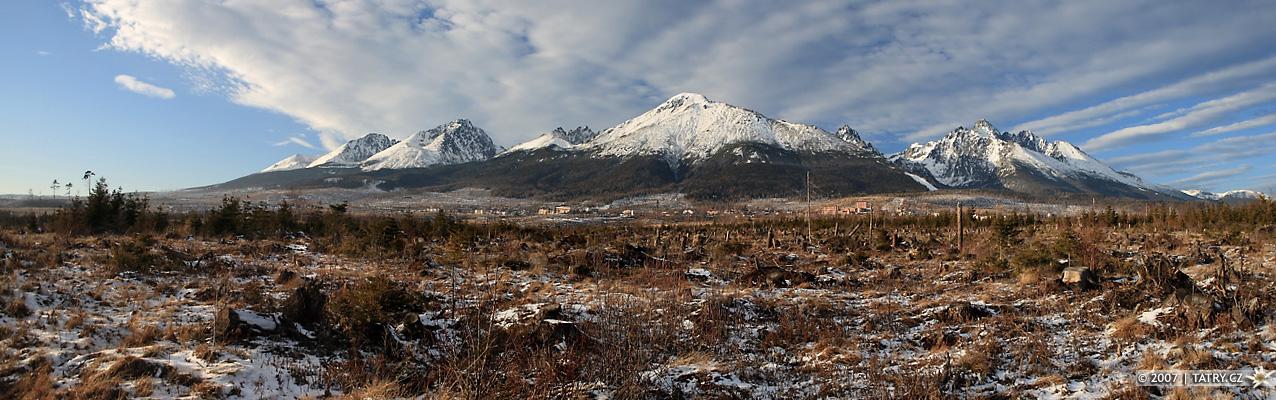Tatry od Dolného Smokovce